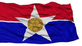 Dallas City Flag d'isolement, Etats-Unis d'Amérique Image libre de droits