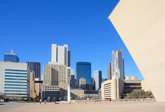 Dallas city hall and modern building Royalty Free Stock Photo