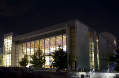 Dallas city performance hall night scenes Stock Photo