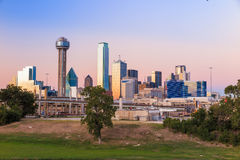 Dallas City skyline at twilight Stock Image