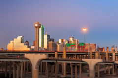 Dallas City skyline at twilight Stock Photo