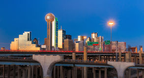 Dallas City skyline at twilight Stock Photography