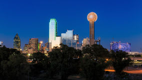 Dallas City skyline at twilight Royalty Free Stock Image