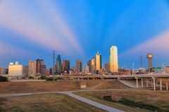Dallas City skyline at twilight Stock Photos