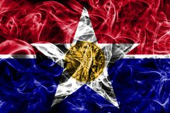 Dallas city smoke flag, Illinois State, United States Of America.  Royalty Free Stock Photography
