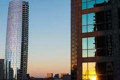 Dallas cityscape royaltyfria bilder