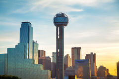 Dallas cityscape in the morning Stock Image