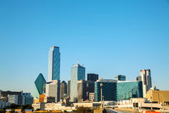 Dallas cityscape in the morning Royalty Free Stock Images