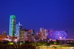 Dallas cityscape at the night time Royalty Free Stock Images