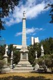 Dallas confedera las estatuas en plaza pionera - por ahora fotografía de archivo