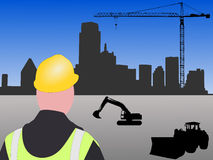 Dallas construction site Royalty Free Stock Images