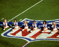 Dallas Cowboys Cheerleaders Stockfotografie