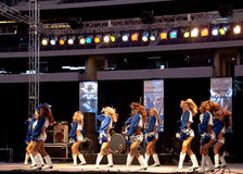 Dallas Cowboys Cheerleaders Perform Stock Photo