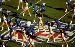 Dallas Cowboys Cheerleaders. The Dallas Cowboys Cheerleaders performing a routine Stock Images