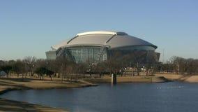 Dallas Cowboys Football Stadium Lake View stock video