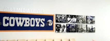 Dallas Cowboys Media Wall fotos de archivo