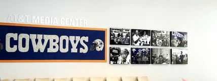 Dallas Cowboys Media Wall fotografie stock