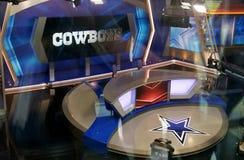 Dallas Cowboys TX media TV stage set star royalty free stock image