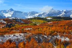 Dallas divide. Beautiful autumn landscape at Dallas divide royalty free stock image