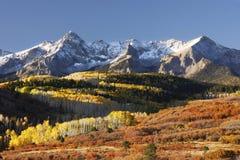 Dallas Divide, floresta nacional de Uncompahgre, Colorado Fotos de Stock