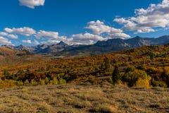 Dallas Divide no outono - Ridgway, Colorado imagem de stock