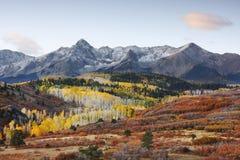 Dallas Divide, réserve forestière d'Uncompahgre, le Colorado Photos stock