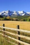 Dallas Divide Uncompahgre nationalskog, Colorado arkivbild
