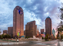 Dallas downtown - Arts district in the evening. Dallas downtown - Arts district, Texas Royalty Free Stock Image