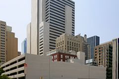 Dallas downtown city urban bulidings view Stock Image