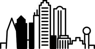 Dallas Downtown Icon Immagini Stock
