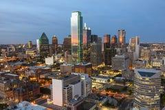 Dallas Downtown la nuit photographie stock libre de droits