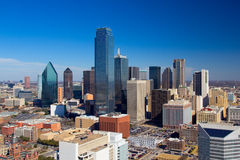 Dallas Downtown Panorama lizenzfreie stockfotografie