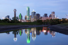 Dallas Downtown Skyline at night Royalty Free Stock Photography