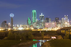 Dallas Downtown Skyline at night Royalty Free Stock Images