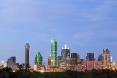 Dallas Downtown Skyline at night. Dallas downtown skyline illuminated at night. Texas, United States Stock Photos
