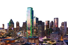 Dallas downtown view shot from reunion tower Stock Photography