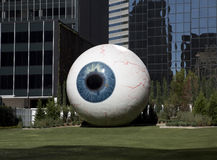 Dallas eyeball sculpture. Eyeball sculpture in downtown Dallas, Texas Stock Photo