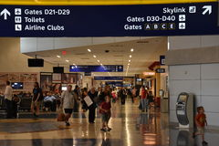 Dallas-Fort Worth International Airport (DFW) in Texas Stock Image