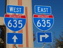 Free Dallas High 5 Interchange Signs Stock Image - 104859951