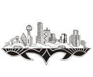 Dallas, horizon de TX illustration stock