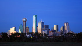 dallas i stadens centrum horisont texas Royaltyfria Foton