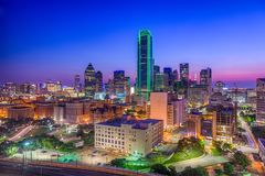 Dallas, le Texas, Etats-Unis photo libre de droits