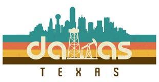Free Dallas Logo T Shirt Retro 70s Disco Vintage Texas Royalty Free Stock Photography - 154301367