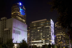 Dallas modern buildings  night scenes Royalty Free Stock Photography