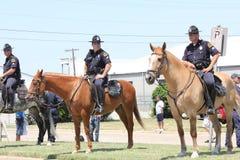 Dallas montó policía Foto de archivo