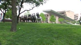 Dallas Mounted Police Horse Unit Dallas Texas. The Dallas Mounted Police Horse Division in Dallas, Texas stock video footage