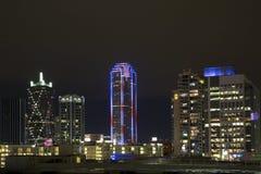 Dallas-Nachtszenen Lizenzfreies Stockfoto
