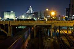 Dallas Near Railroad Tracks céntrico Foto de archivo libre de regalías