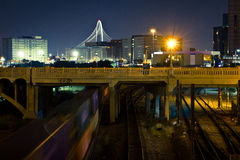 Dallas Near Railroad Tracks du centre photo libre de droits