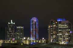 Dallas night scenes Royalty Free Stock Photo